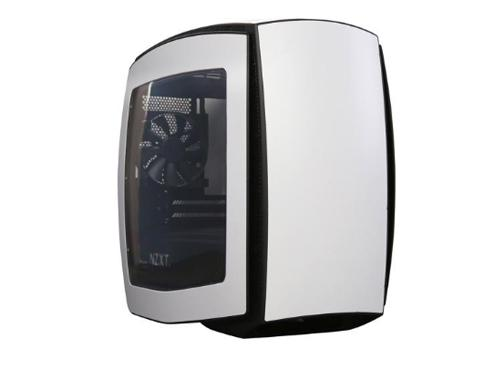 CASE NZXT MINI ITX MANTA CHASSIS C/WINDOWS, MATTE BLANCO/NEGRO (P/N: CA-MANTW-W1 )