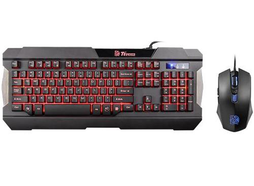 COMBO THERMALTAKE TECLADO MOUSE GAMER COMMANDER TRI-COLOR, SPANISH PN: KB-CCM-PLBLSP-01