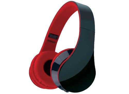 AUDIFONO+MICROFONO CKP-HP04    ROJO       CIRKUIT PLANET  plegables