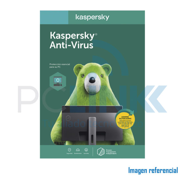 ANTIVIRUS KASPERSKY 1PC - (2x1