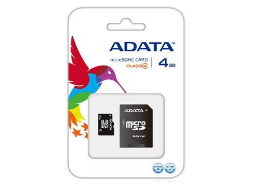 MEMORIA MICRO SDHC 4GB A-DATA