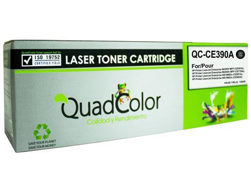 TONER QuadColor 90A QC-CE390A para HP BK